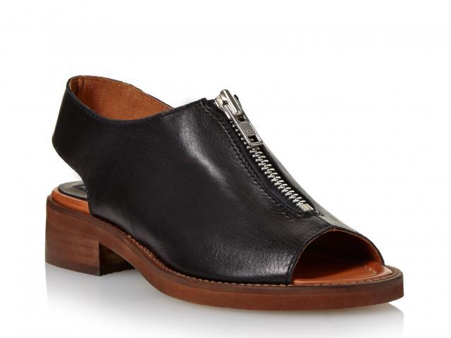Bertie-black-zip-sandal-shoe