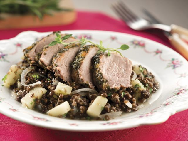 Herby pork recipe