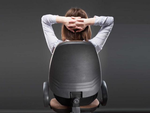 Shutterstock woman sitting with back turned