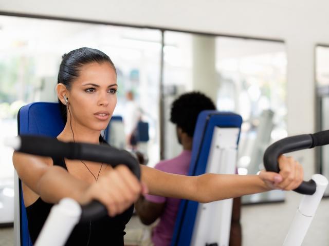 Shutterstock womand doing weight music