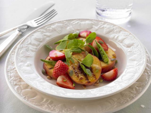 Strawberry peach salad