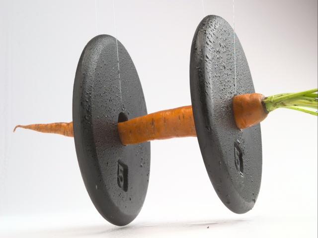 Carrot dumbbell vegetable protein