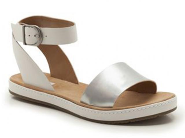 Clarks-silver-sandal