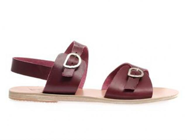 Matches-red-leather-sandal