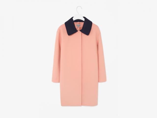Cosdetachable collar coat
