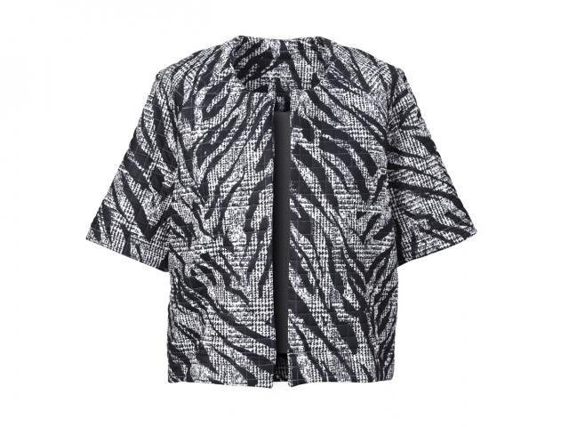 Zebra trapeze jacket