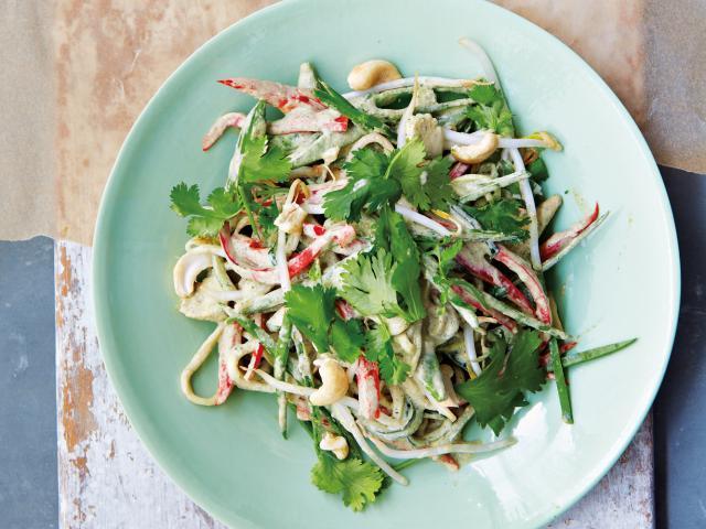 Raw Green Curry with Courgette Noodles Recipe