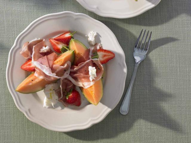 Strawberry melon parmaham