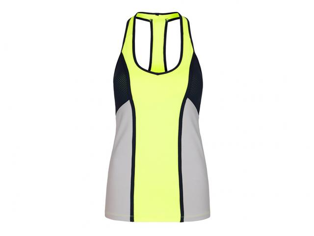 Lorna-jane-grey-yellow-neon-vest