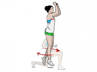 how to do a jump lunge