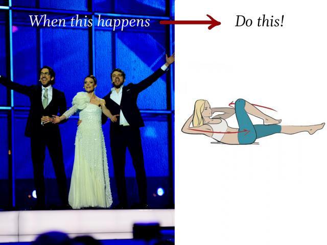Eurovision host change oblique crunches copy