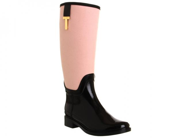 Ted-baker-pink-black-riding-boot-wellies