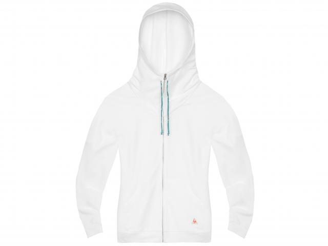 Le-coq-sportif-white-tennis-zip-through-hoodie
