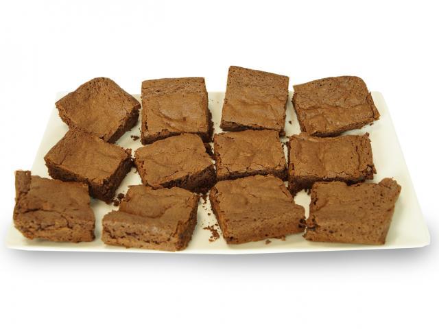 Chocolate teff brownies plate