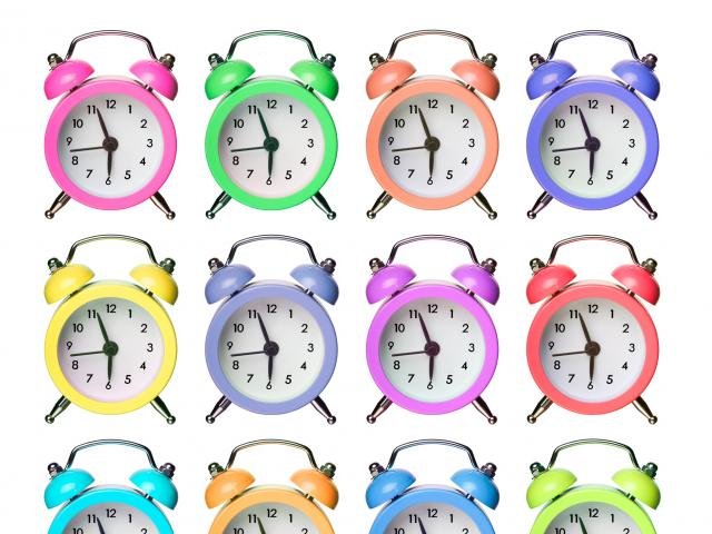 Neon alarm clocks