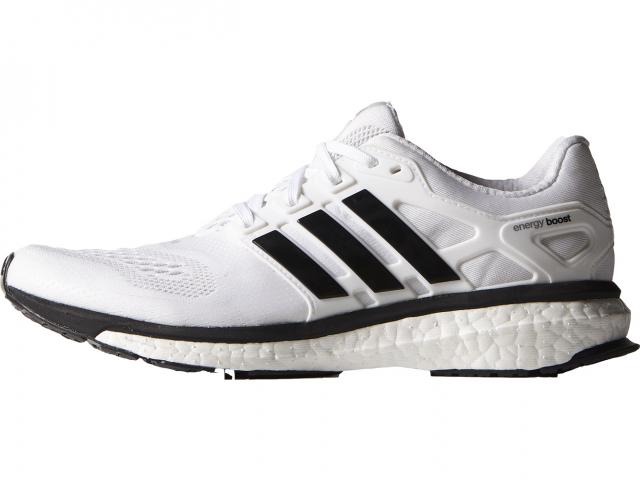 Adidas white black trainers