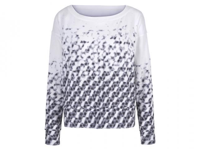 Gap white grey patterned sweatshirt