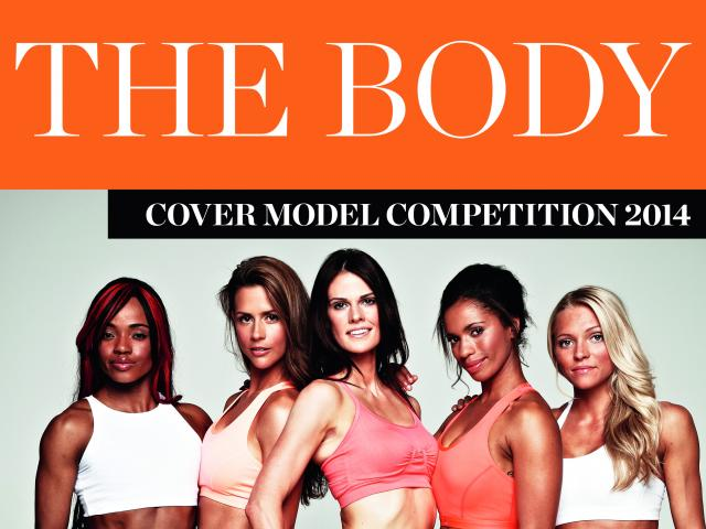 The Body of 2014 Women's Health cover model competition logo and contestants group shot