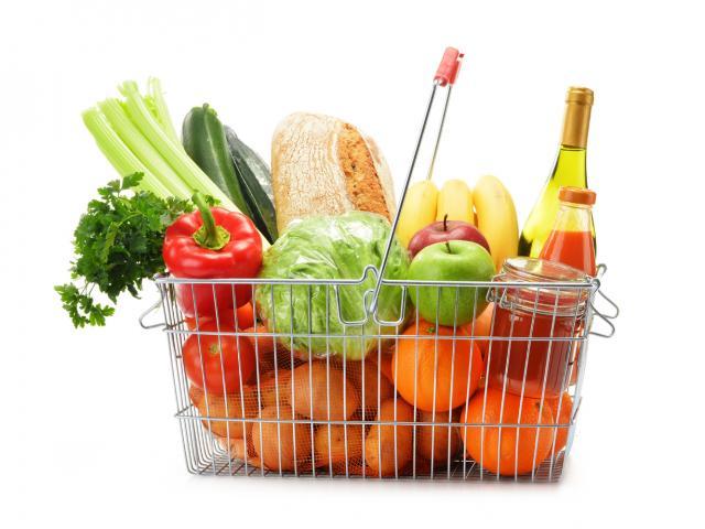 Healthy shopping basket