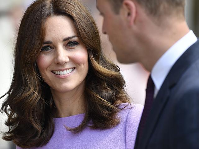 Kate middleton in purple dress - hyperemesis gravidarum