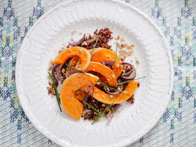 Detox kitchen butternut squash wild rice salad