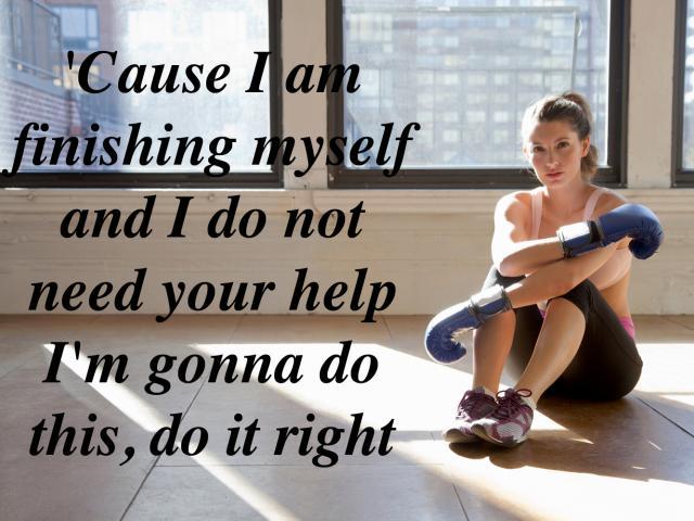 I am finishing myself