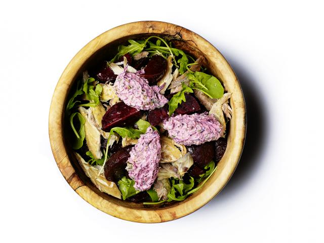 Flu fighting mackerel and beetroot warm salad recipe