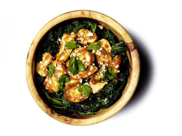 Mood enhancing chicken and kale warm salad recipe