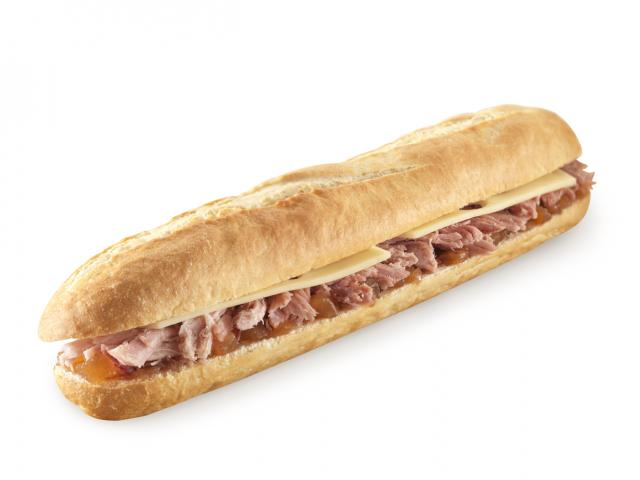Ham hock baguette