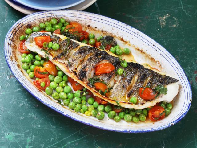 Sea bass, sauce vierge