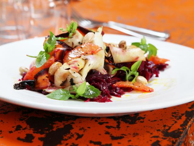 Chargrilled heritage carrot salad