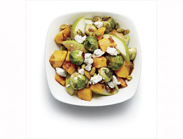 Roast pumpkin and pear salad