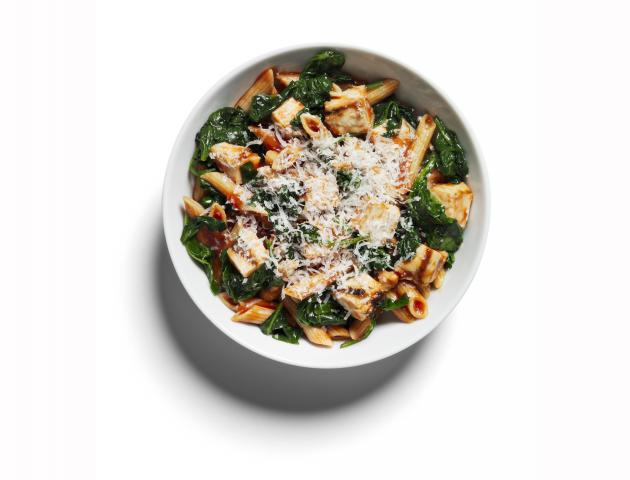 Chicken and spinach penne