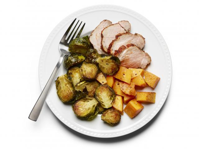 Pork with roasted vegetables