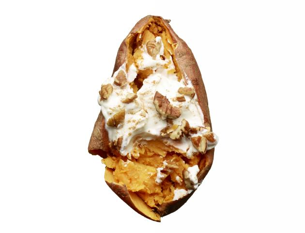 Sweet potato, greek yoghurt and cinnamon - snack - issue 6