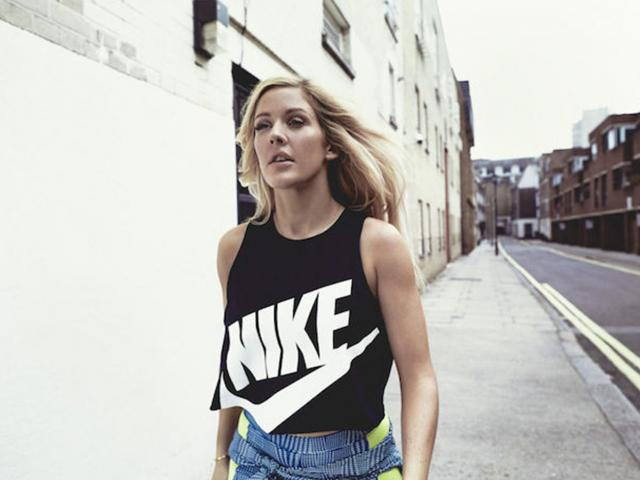 Nike campaign - ellie goulding - photos - black and white vest - womens health uk