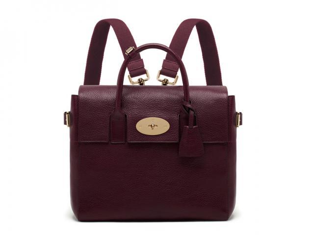 995 cara delevingne oxblood natural leahter bag -2