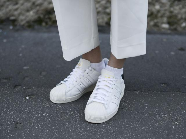 Street style - gym wear - adidas stan smith trainers - womens health uk