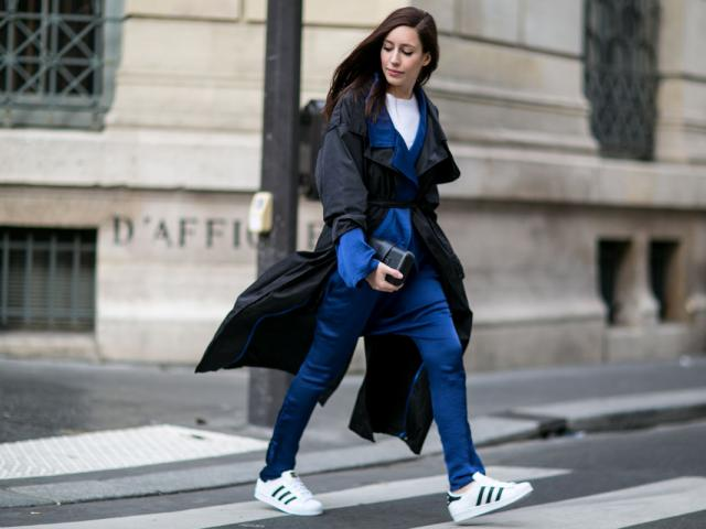 Street style - gym wear - adidas superstar trainers - womens health uk