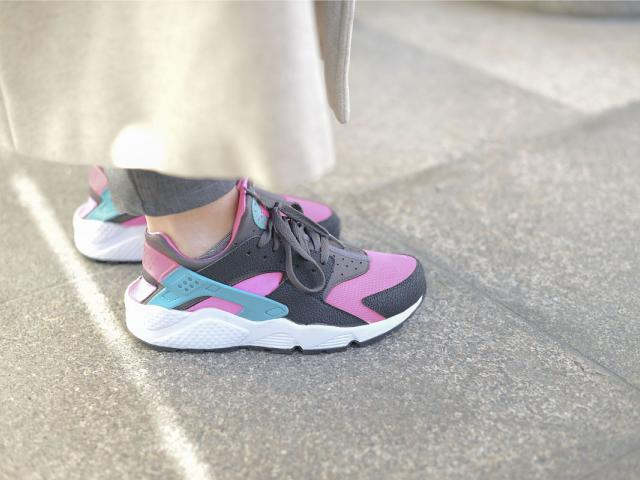 Street style - gym wear - nike huarache trainers - womens health uk