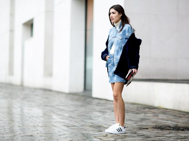 Street style - gym wear -denim - adidas superstar trainers - womens health uk