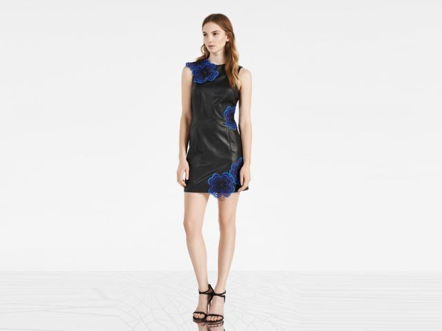 Reiss advert - leather print detail dress - athletic