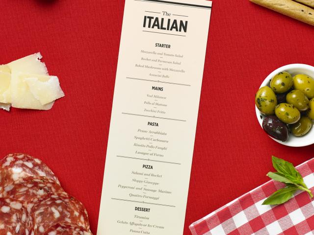 Menu decoder - italian restaurant - how to eat healthy - womens health uk