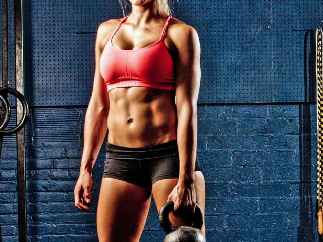 Muscle girl - kettle bell - fit - womens health uk