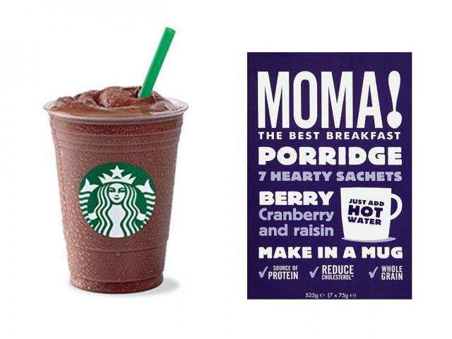Mocha light - starbucks - healthy breakfasts sugar - moma porridge - womens health uk