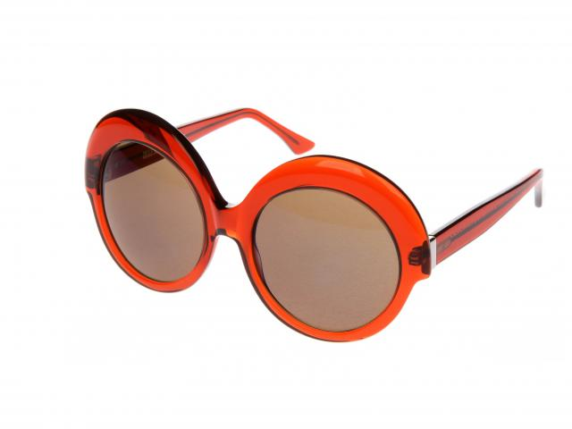 Cutler and gross orange round sunglasses