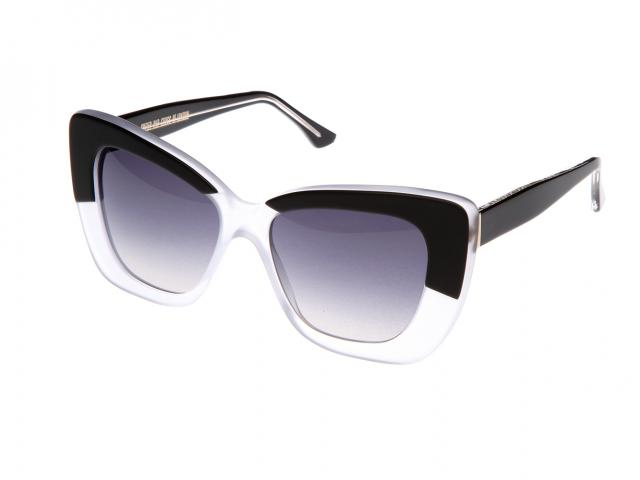 cutler and gross two tone monochrome sunglasses