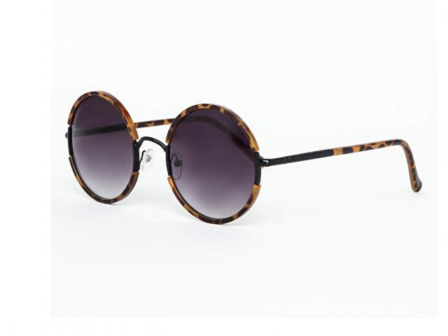 missguided round tortoise shell sunglasses
