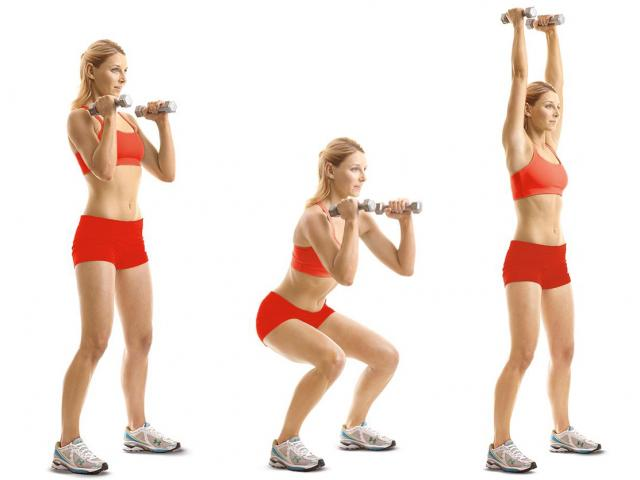 How To Do A Dumbbell Thruster Women S Health