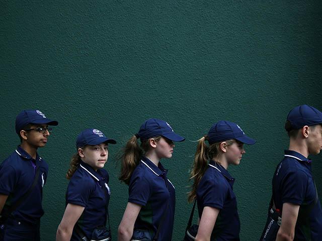 Ball girls and boys at wimbledon